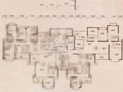 恒大绿洲1-2期 4室 2厅 169平米