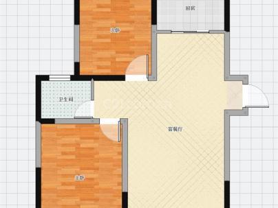 福佳斯东区 2室 2厅 103平米