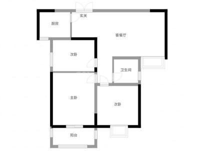 嘉宝广场(嘉宝华府-住宅) 3室 2厅 110.6平米