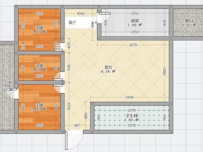 环保局家属楼 3室 2厅 125平米