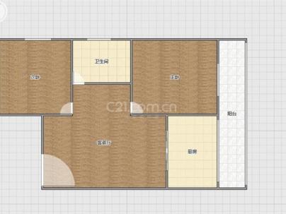物探小区 2室 1厅 65平米