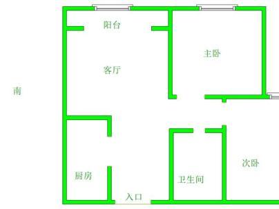 御河新城东区 2室 1厅 86平米