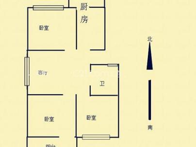 120间小区 3室 2厅 82平米