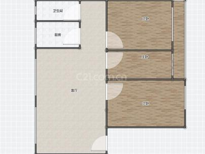 工业公司家属楼 3室 2厅 98平米