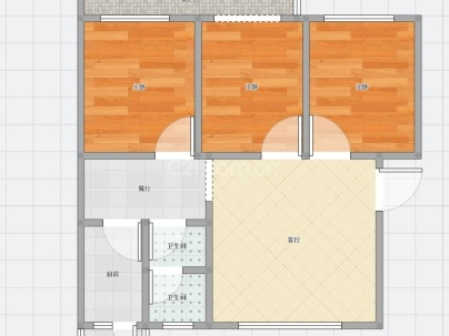 站前小区 3室 2厅 121平米