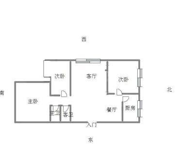 中华世纪城 3室 2厅 117平米