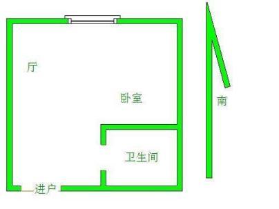 国庆中路 1室 1厅 28平米