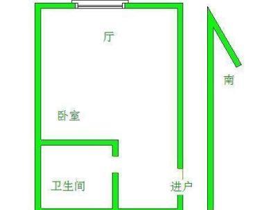 国庆中路 1室 1厅 35平米