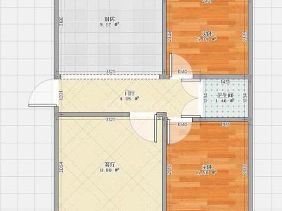 水电南区 2室 1厅 62平米